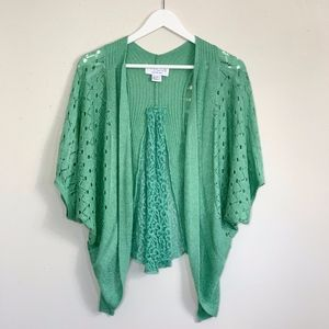 Anthropologie Cropped Open Cardigan/Shrug Small